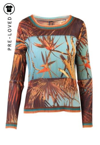 Jean Paul Gaultier green Pre-Loved jean paul gaultier Fall Printed Top DD27AAAA83E803GS_1