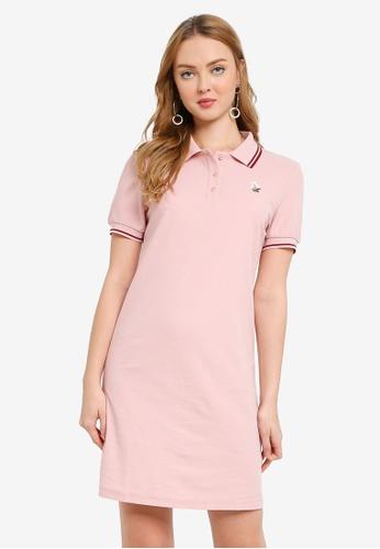 Hopeshow pink Polo T-Shirt Mini Dress ED259AA1F7F477GS_1