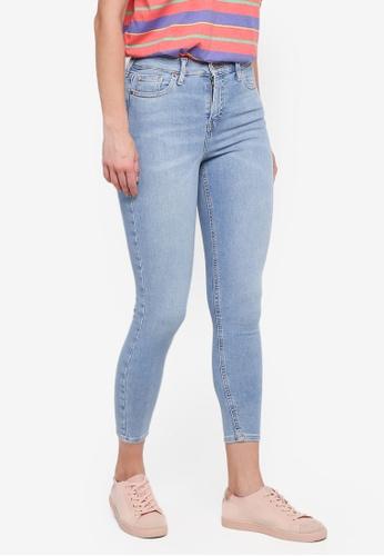 TOPSHOP blue Moto Bleach Jamie Jeans 3BF07AA8C681F1GS_1