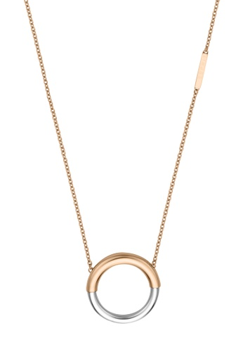 ESPRIT gold ESPRIT [Tint] Two-Tone Silver & RoseGold Stainless Steel Necklace (42 cm + 3 cm extension) B2F12ACEF37CF9GS_1