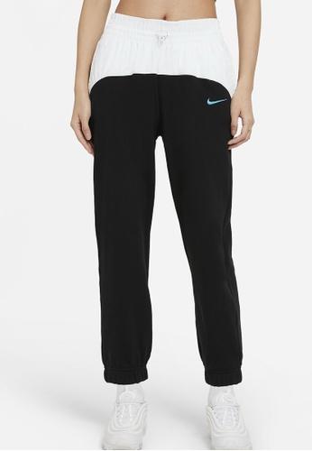 Nike black and grey Icon Clash Joggers EAD0CAABB619B4GS_1