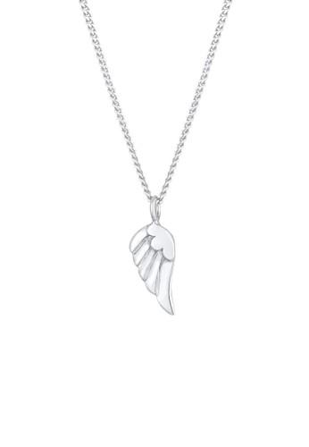 Elli Jewelry Kids silver Perhiasan Anak Perak Asli - Silver Kalung Wings Pendant Angel Faith Religion Silver 7D10DAC426C559GS_1