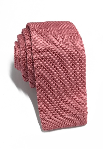 Splice Cufflinks Interlace Series Rose Pink Knitted Tie SP744AC81KTMSG_1
