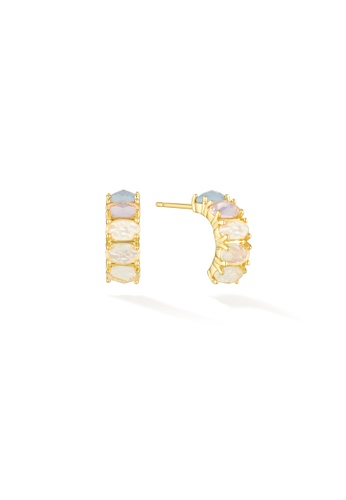 Glacier Mist 粉紅色 and 藍色 and 紫色 and 金色 Soul Protection - June Birthstone Earrings (Moonstone) 3DC84AC7651B8FGS_1