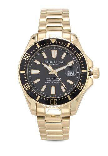Stuhrling Original gold Aquadiver 3950A Watch 1C0D6ACFCD27A5GS_1