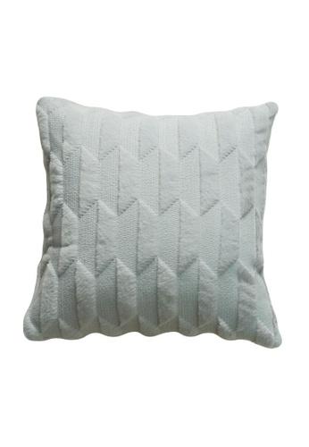 DILAS HOME grey Geometric Embossed Plush Cushion Cover (Light grey) AAA15HL9354544GS_1