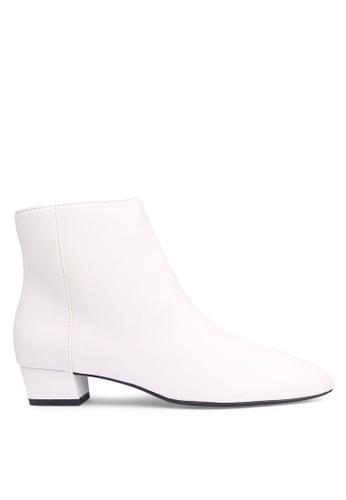 MANGO 白色 拉鍊踝靴 D84B3SHD1FEC12GS_1