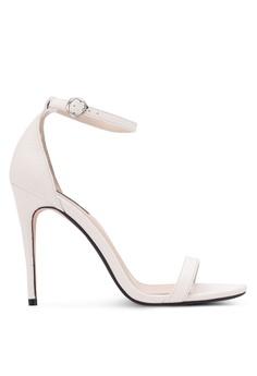 ZALORA white Classic Ankle Strap Heels 1B540SH69E55BBGS_1