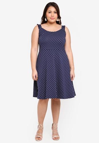 2a431f2fa87 Buy Dorothy Perkins Plus Size Navy Spot Sundress Online