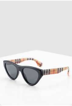 476d67fc9c5 Burberry black Burberry BE4285 Sunglasses 447D6GL9B2A673GS 1 25% OFF ...