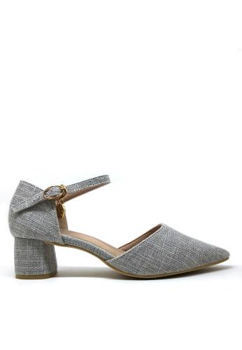Twenty Eight Shoes 灰色 斜紋軟呢中踭鞋1802-1 C2F36SHE8C2C27GS_1