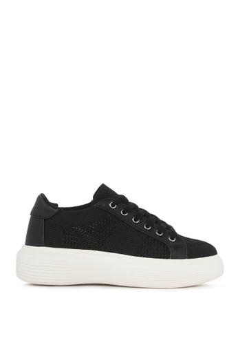 London Rag black Chunky Sole Mesh Sneakers CDFA8SHF7F66EEGS_1