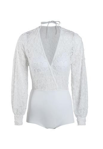 Its Me white (2PCS) Sexy Lace Big Halter Bikini Swimsuit 320AEUS8EBEFD8GS_1