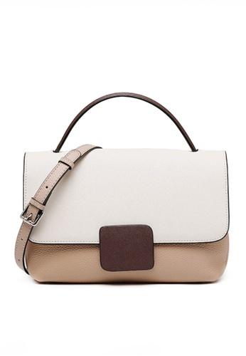 Twenty Eight Shoes white VANSA Color Matching Top Layer Cowhide Hand Bag VBW-Hb7847 B6B78ACA75D9E8GS_1