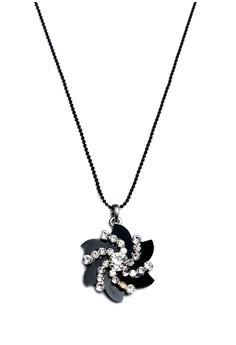 Clique Black Diamond Swirl Necklace Prom Night Earlu Summer Sale