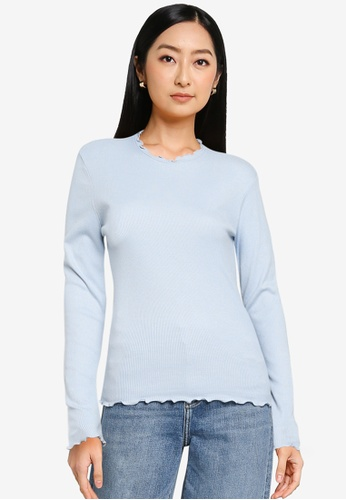 ONLY blue Onelly Long Sleeve Top 255D9AA48698CAGS_1