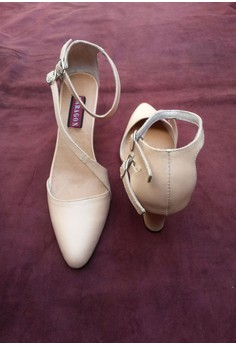 Paragon Kris Genuine Leather Sandals (Nude)
