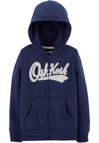 Oshkosh B'gosh blue OSH KOSH Girl Navy Logo Hoodie A4855KA7699BFAGS_1