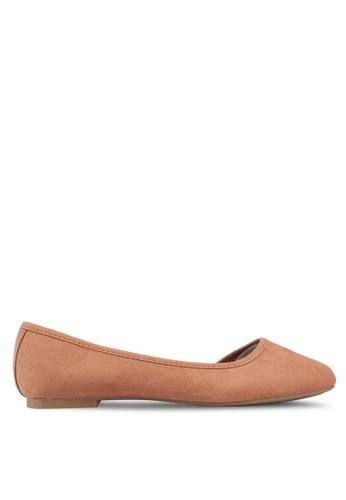 Rubi 褐色 Stephanie 方形鞋頭 Dorsay 平底鞋 414B0SH3AD0DAAGS_1