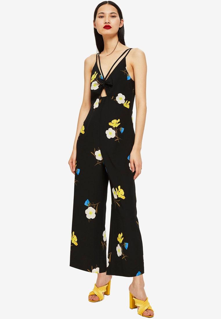 056a04133266 Jumpsuit Floral TOPSHOP Print Petite Black Yellow OEIqHrI0 ...