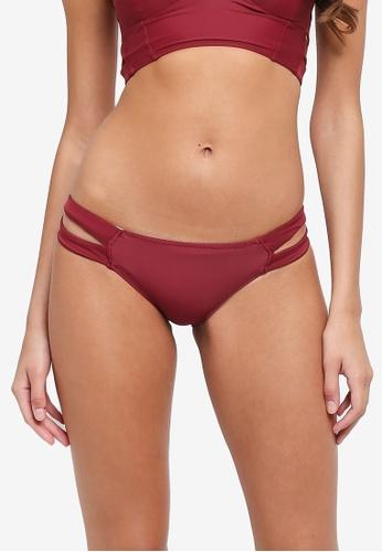 Malibu Beachwear red Vista Cut Out Bikini Bottom (Petite) A2456US1CFCBF9GS_1