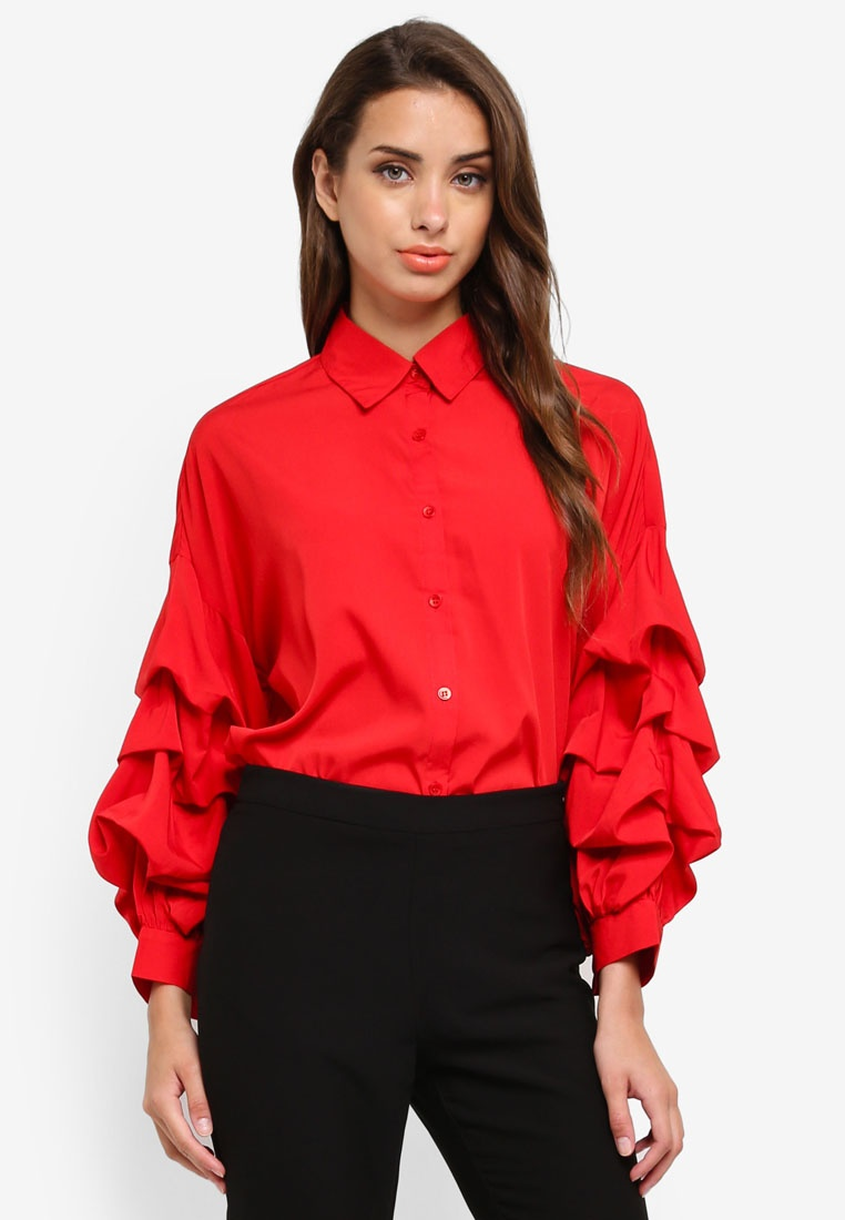 Shirt Sleeve Red Super AX Paris qP14xwa7f