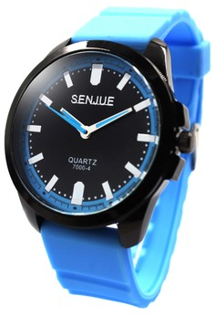 Senjue Cyer Rubber Strap Watch 7000-4