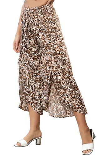 Twenty Eight Shoes brown VANSA Fashion Irregular Pants  VCW-P6364 48694AAB030E61GS_1