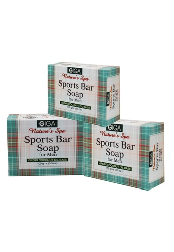 efcb7d802f2f Shop GIGA Sports Bar Soap for Men 100g Set of 3 Online on ZALORA Philippines