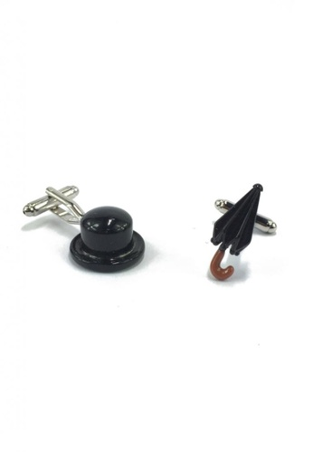 Splice Cufflinks black Tall Hat and Umbrella Cufflinks SP744AC44EZBSG_1