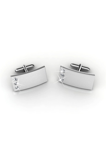 7591d8052664 Her Jewellery silver Her Jewellery Cufflinks Mr Matt 3 (Rectangle 2)  Embellished With Crystals