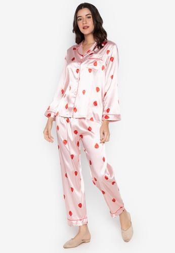 FEMINISM pink Longsleeve PJ Set 3F3DEAA8C3E52EGS_1