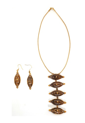 Paulini gold Necklace Choker Prune 5-Tier (AG) 2E35FACB495539GS_1