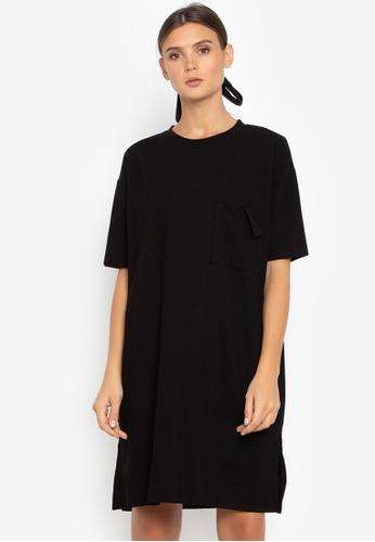 Susto The Label black Saori Pocket Dress BEC90AAAA985E2GS_1