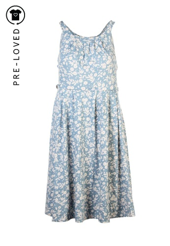Marc By Marc Jacobs multi Pre-Loved marc by marc jacobs Floral Print Sky Blue Dress DD2F9AA65FC138GS_1