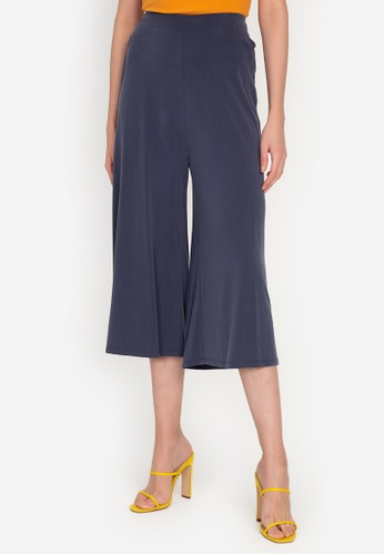 Origin by Zalora navy Culottes made from TENCEL™ FADC3AA40D19ABGS_1