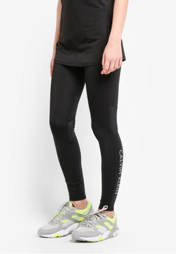 Calvin Klein black Mesh Insert Full Length Leggings - Calvin Klein Performance CA221AA0RENXMY_1