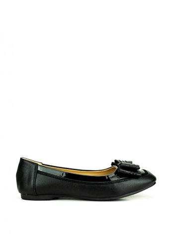 Mario D' boro Runway black Becky Flat Shoes BA9B6SHFB93771GS_1