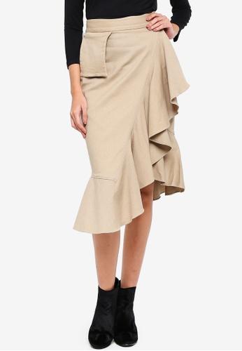 Alia B. green Esmerelda Ruffled Skirt BBA2DAA1E16553GS_1