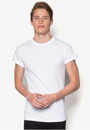 c9a33102 Topman white White Muscle Fit Roller T-Shirt TO413AA36CKHMY_1. CLICK TO ZOOM