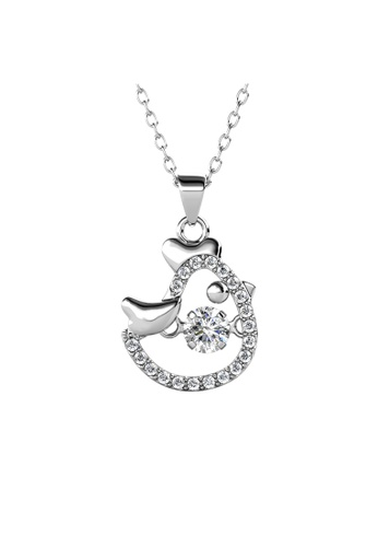 Her Jewellery silver 12 Dancing Zodiac Pendant (Rooster) WG - Made with premium grade crystals from Austria 26732ACB829ADEGS_1