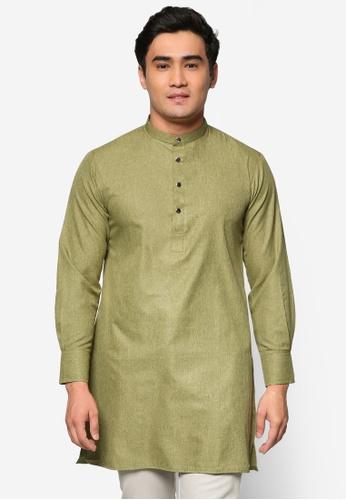 Murzaman green Kurta Salam MU501AA44DJZMY_1