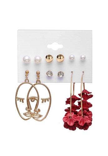 Glamorbit multi Acrylic Statement Earrings Set 7D604AC1AB9851GS_1