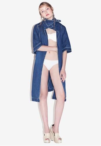 MAG2AN 五分袖長版外套, 服飾, 丹寧外esprit女裝套