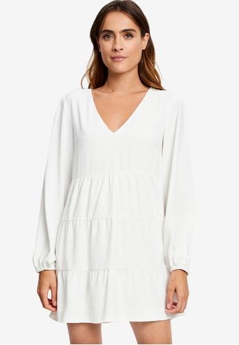 REUX white Carey Mini Dress CD062AA612B967GS_1