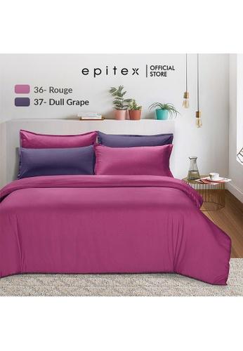 Epitex purple Epitex 900TC Silkysoft Bedsheet - Bedsheets - Bedset - Fitted Sheet Set - Bedding Set - Rouge (w/o quilt cover) E582AHL1D88631GS_1