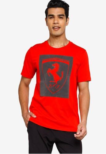 PUMA red Ferrari Big Shield Men's Tee C4543AAA436D0BGS_1