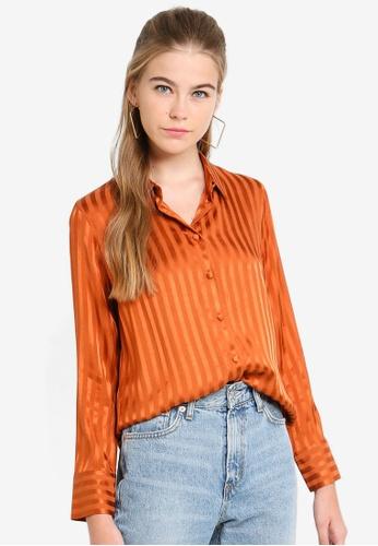 f73d5faa8665 Buy TOPSHOP Stripe Shirt Online on ZALORA Singapore