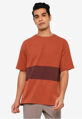 RAGEBLUE brown Knit T-shirt 842DFAA09B0C85GS_1