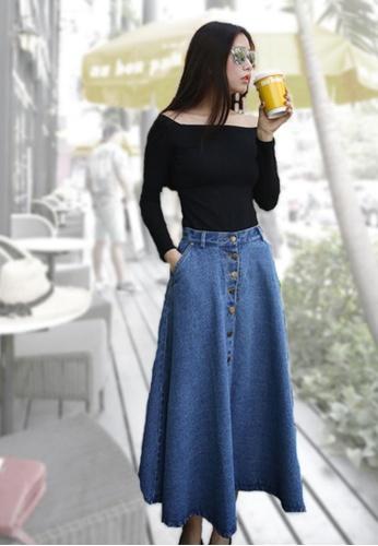 Sunnydaysweety blue Sweet Simple Denim Skirt C04123BL SU219AA0HA8WSG_1